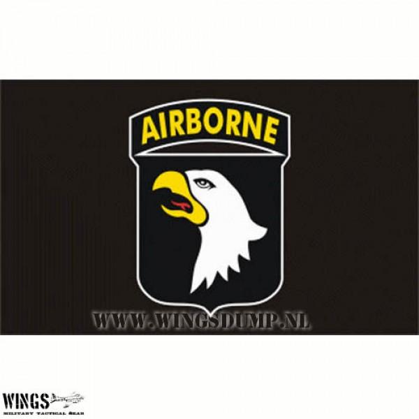 Vlag 150 x 100 cm. Airborne 101 zwart