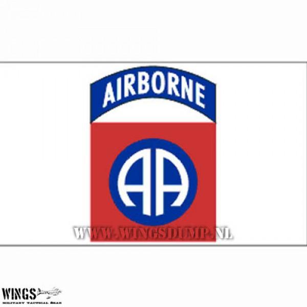 Vlag 150 x 100 cm. Airborne wit