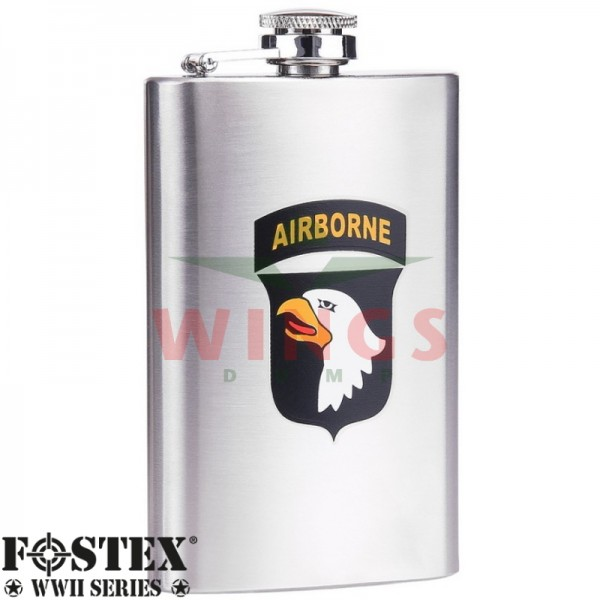 Zakflacon U.S. Airborne Eagle 101st. rvs 150 ml.
