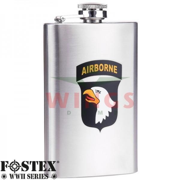 Zakflacon U.S. Airborne Eagle 101st. rvs 150 ml.