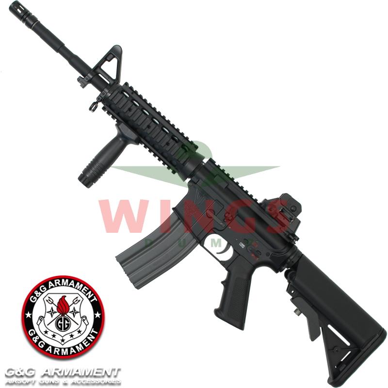 G&G TR16 M4 Commando full metal zwart