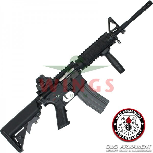 G&G TR16 M4 Commando full metal zwart