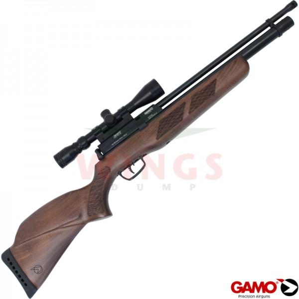 Gamo Coyote  Wood pcp buks met pomp en scope 5,5 m.m.