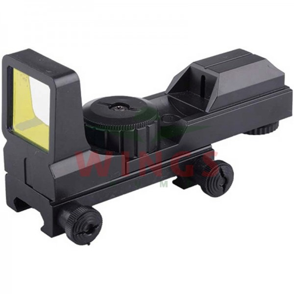 Red dot gunsight kunststof zwart