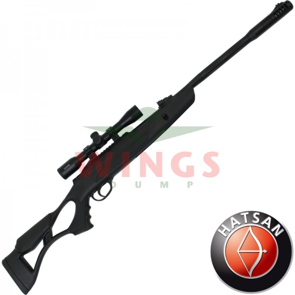 Hatsan AirTact Pro met Hawke 4x32 scope 4,5 m.m.