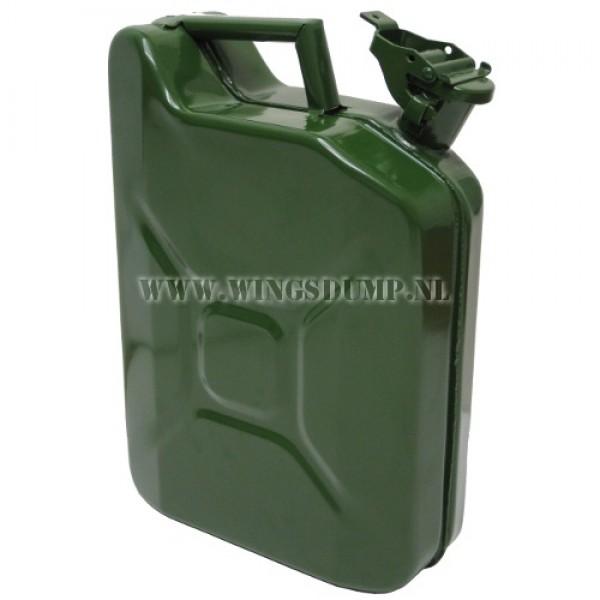 Jerrycan staal groen 10 liter