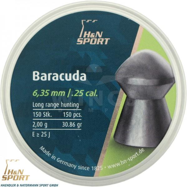 H&N Baracuda 6,35 m.m. 150 stuks