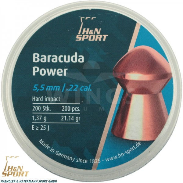 H&N Baracuda Power 5,5 m.m. 200 stuks