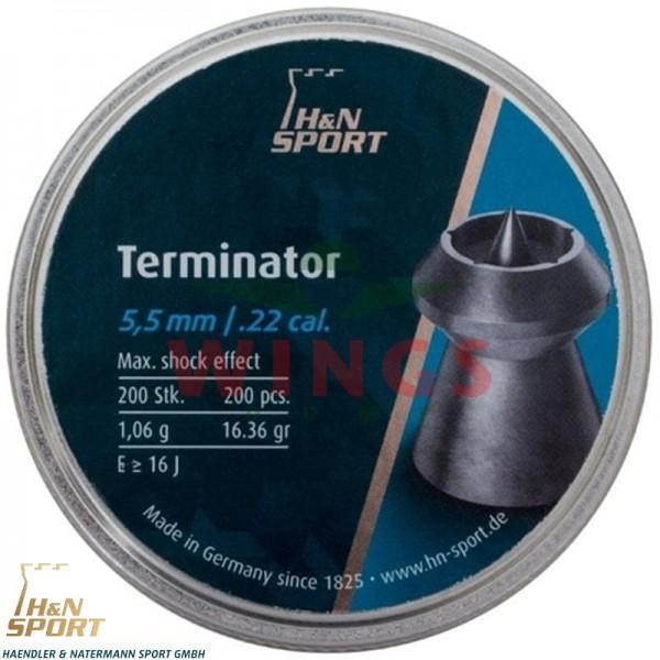 H&N Terminator 5,5 m.m. 200 stuks