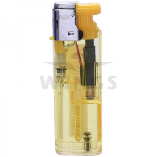 Gas aansteker turbo navulbaar geel