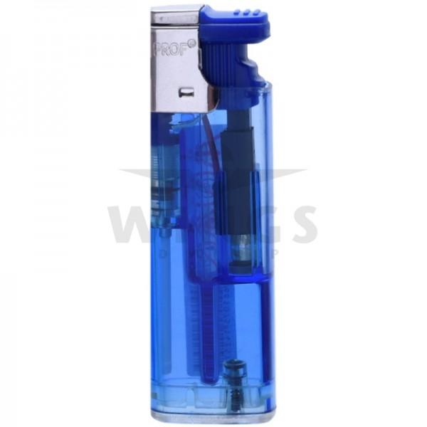 Gas aansteker turbo navulbaar blauw