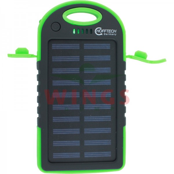 Solar powerbank 5000 mAh 2xUSB +led