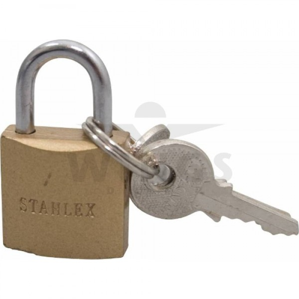 Hangslot Stahlex brass 20 mm