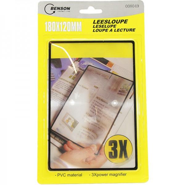 Leesloupe / Vergrootglas 18x12 cm.