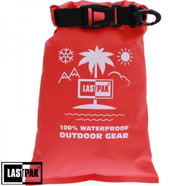Waterdichte zak Lastpak 2 ltr. rood