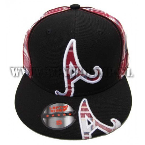 Cap fitted A's ruit rood
