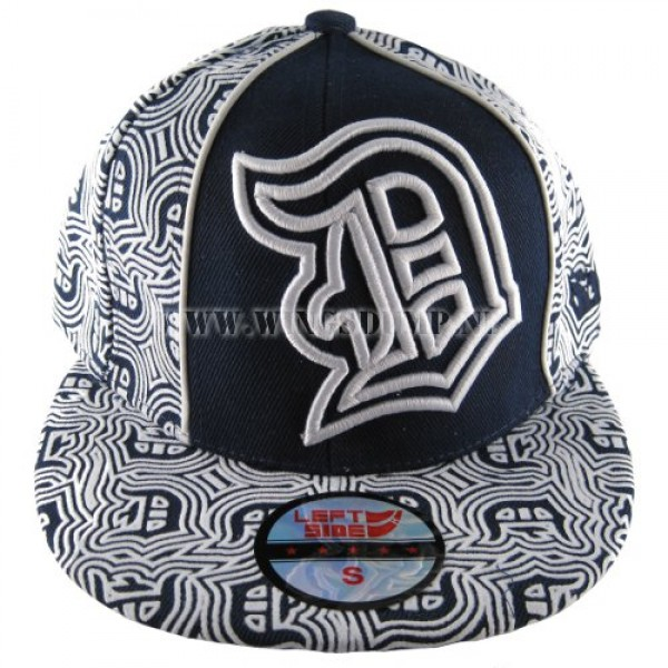 Cap fitted flock D´s blauw wit