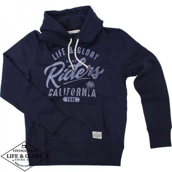 Hooded sweater Riders navy