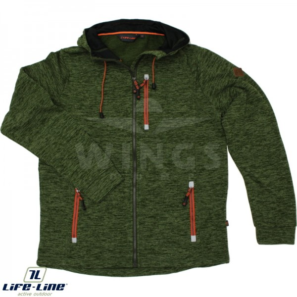 Life-Line Joey hooded fleece jack olive