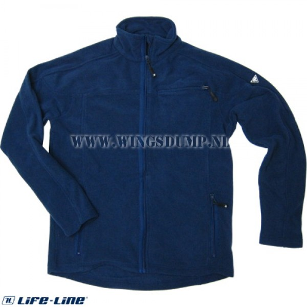 Life-Line Light fleece jack blauw