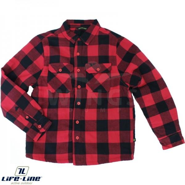 Life-Line borg overhemd rood-zwart