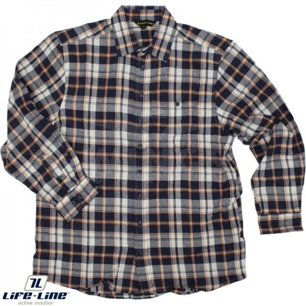 Life-Line Anton flanel shirt navy check