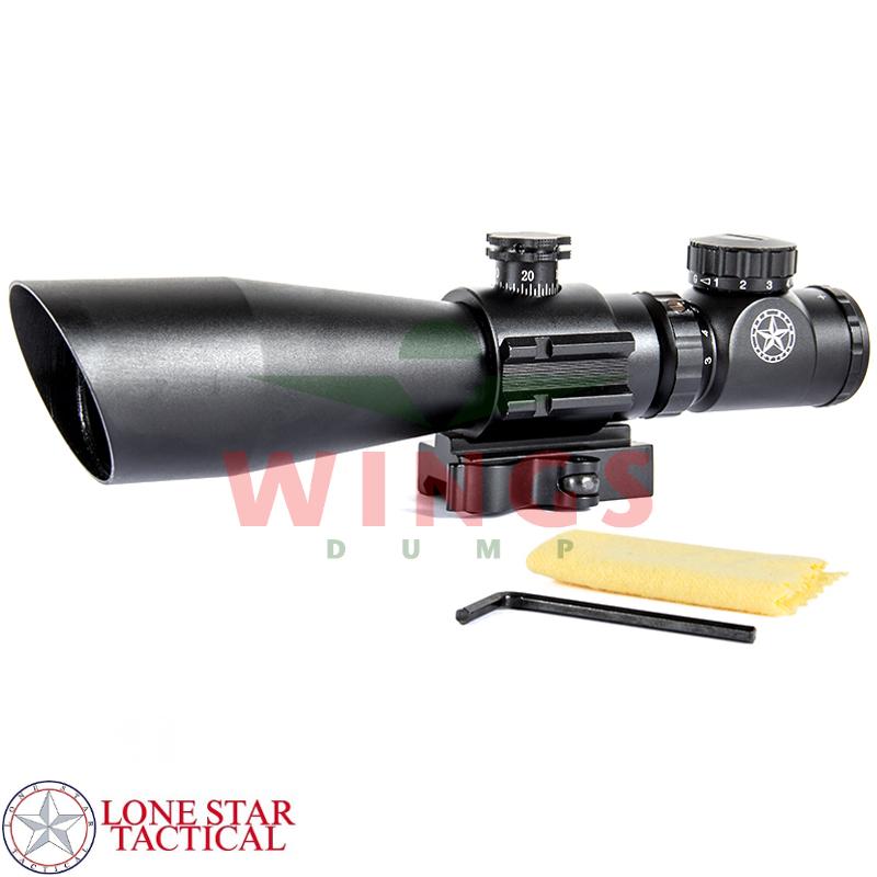 Lonestar scope 3-9x42 mm met red/green cross