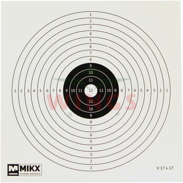 Schietkaarten Mikx 17x17 cm. 100 stuks