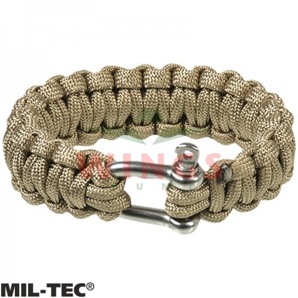 Armband paracord coyote tan/rvs 22 mm breed