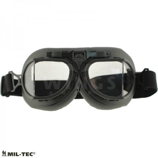 Vliegeniersbril Mil-tec zwart