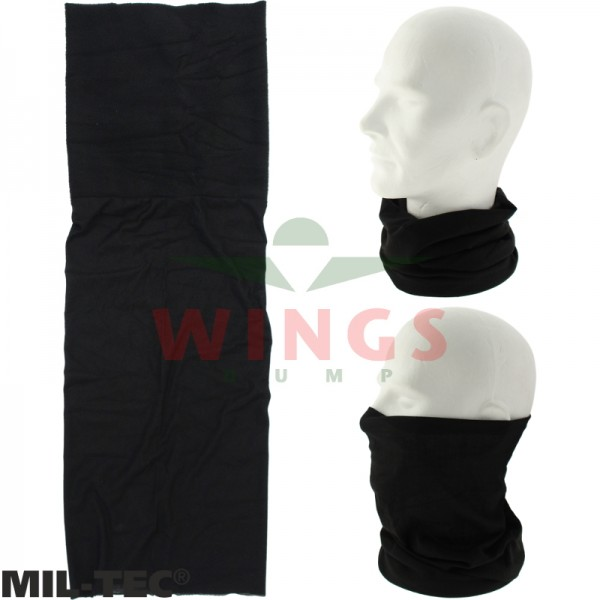 Mil-tec military fleece Buff zwart