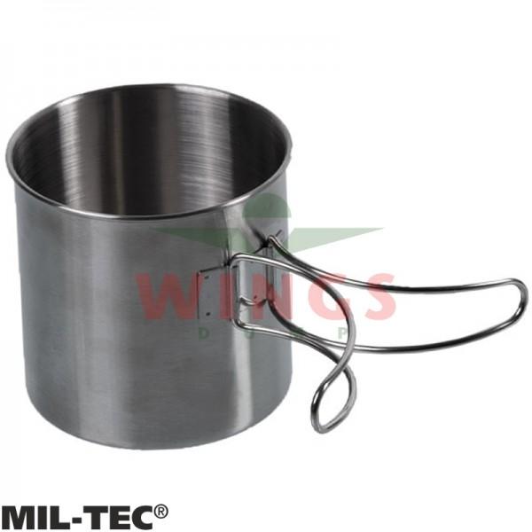 Mok Mil-tec rvs 600 ml. met handgrepen