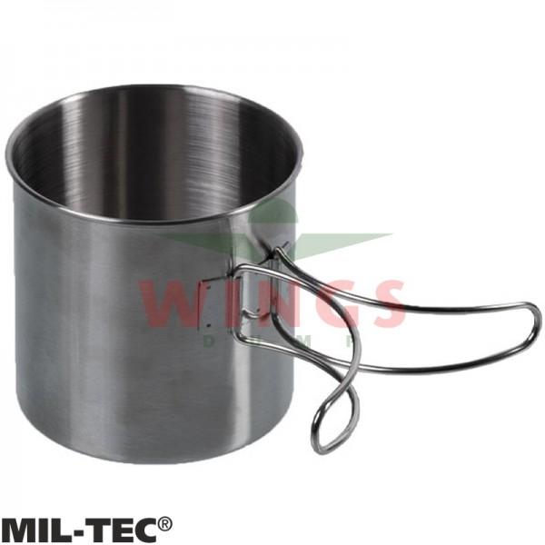 Mok Mil-tec rvs 800 ml. met handgrepen
