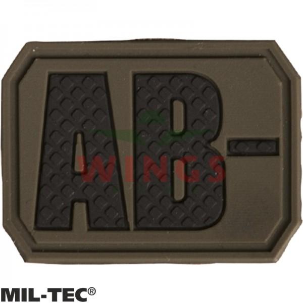 Embleem 3D pvc Mil-tec AB-neg