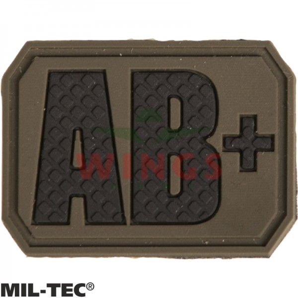Embleem 3D pvc Mil-tec AB-pos