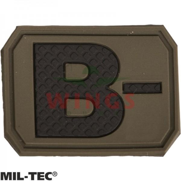 Embleem 3D pvc Mil-tec B-neg