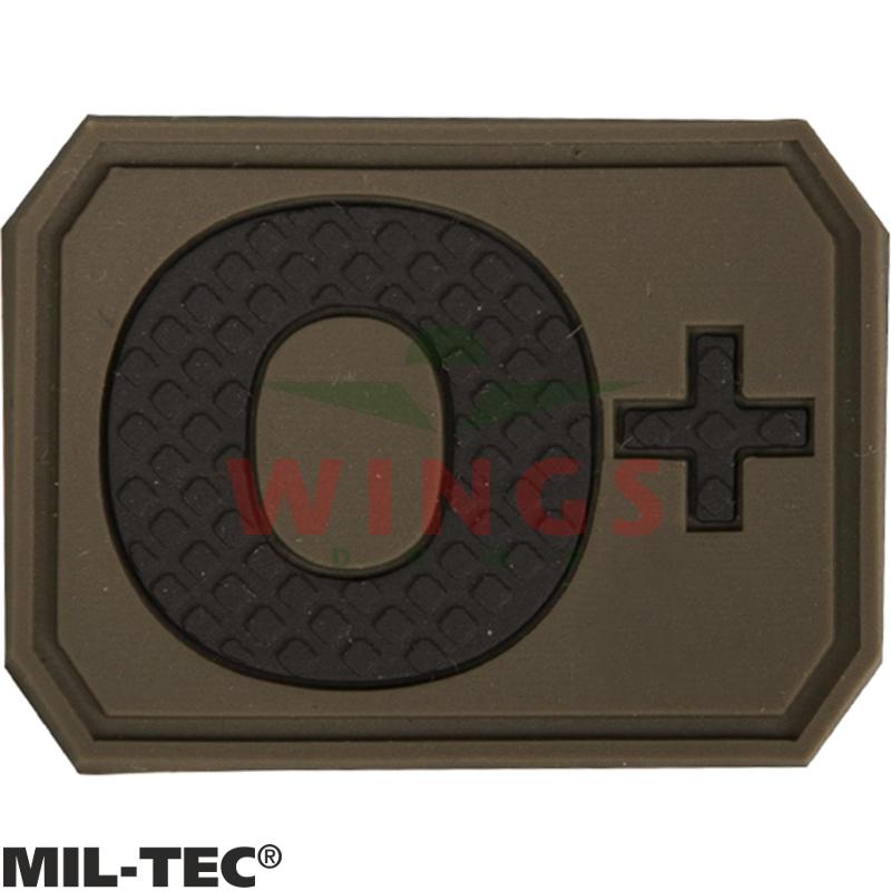 Embleem 3D pvc Mil-tec O-pos