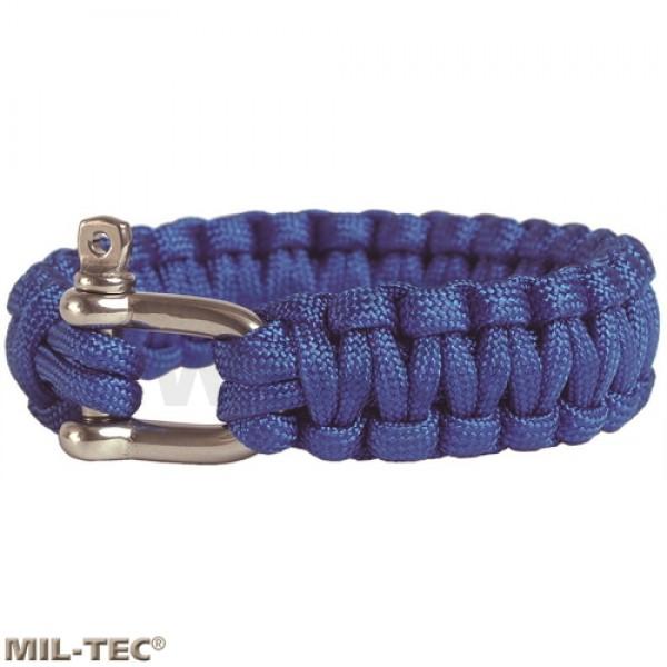 Armband paracord rvs harpsluiting blue