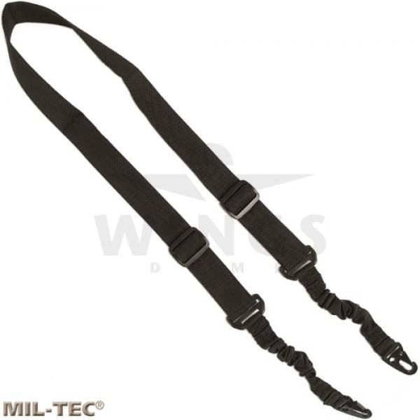 Mil-tec 2-point sling met twee dempers zwart