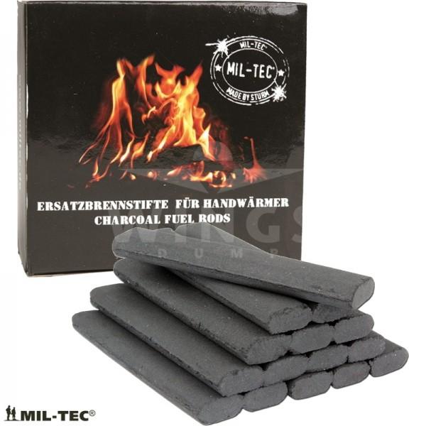 Mil-tec koolstaafjes voor handwarmer 20 stuks