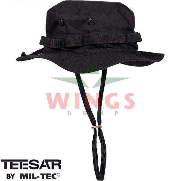 Bush hoed ripstop verstelbaar zwart