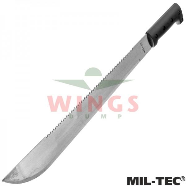 Kapmes Mil-tec 58 cm. staal met zwarte hoes