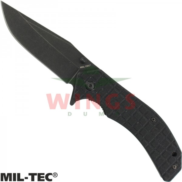 Lockmes Mil-tec 184mm G10 zwart rvs