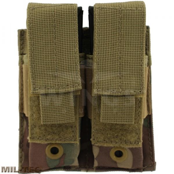 Mil-tec Molle double pistol mag pouch multicamo