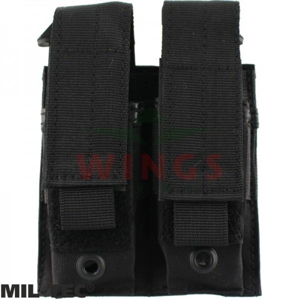 Mil-tec Molle double pistol mag pouch zwart