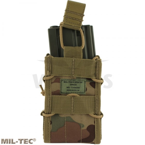 Mil-tec Molle single mag pouch open top DTC camo