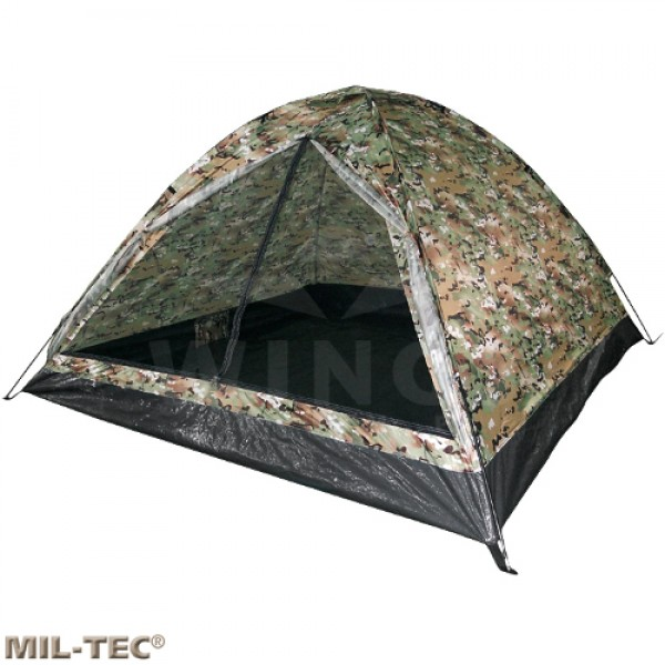 Koepeltent Mil-tec multicamo 2-persoons