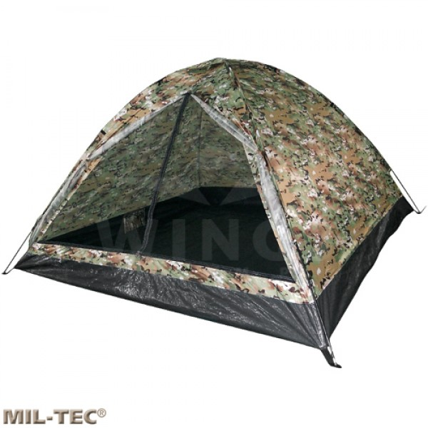Koepeltent Mil-tec multicamo 3-persoons