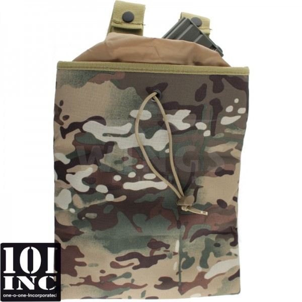 Foldable dump pouch for mags multicamo