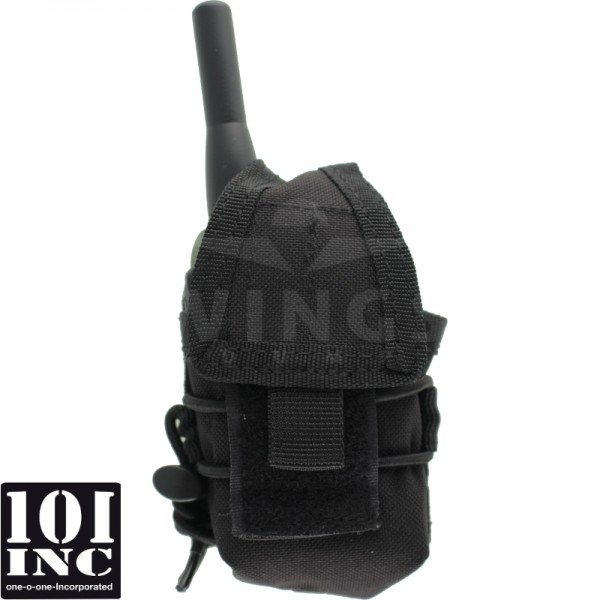 Molle system radio pouch closed model zwart